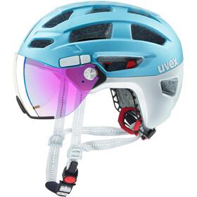 UVEX Finale Visor - Casque de vélo - bleu/blanc